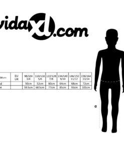 VidaXL Bib overall til børn størrelse 122/128 blå