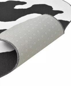 vidaXL tæppe i facon 150 x 220 cm sort koprint