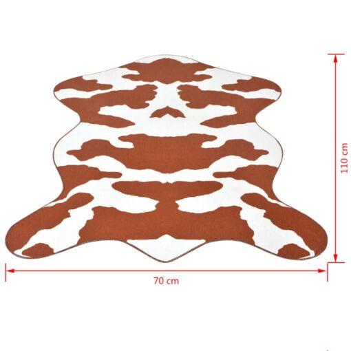 vidaXL formet tæppe 70×110 cm brun koprint