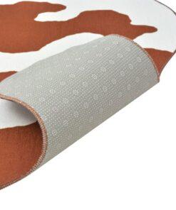 vidaXL tæppe i facon 110 x 150 cm brun koprint
