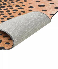 vidaXL tæppe i facon 110 x 150 cm gepardprint