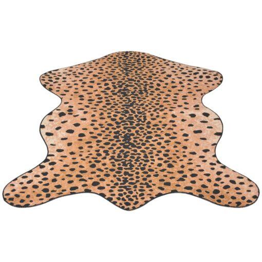 vidaXL tæppe i facon 150 x 220 cm gepardprint