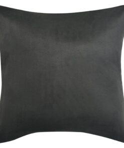 vidaXL pudebetræk 4 stk. 80×80 cm polyester imiteret ruskind antracitgrå
