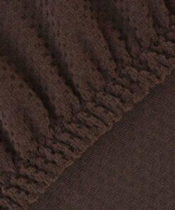 vidaXL elastisk sofabetræk brun piqué