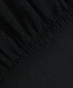 vidaXL elastisk sofabetræk sort piqué