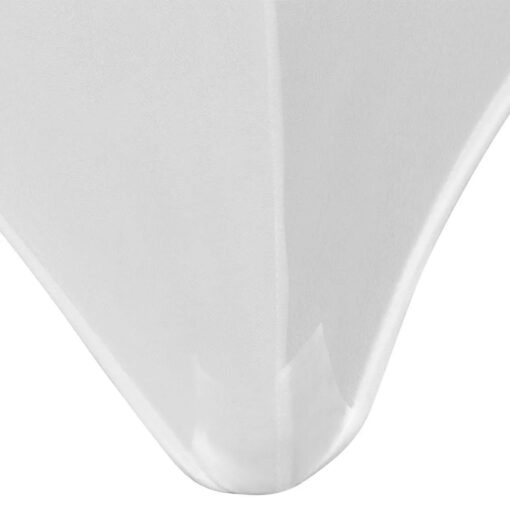 vidaXL stræk-bordbetræk 2 styk 120×60,5×74 cm hvid