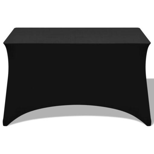 vidaXL stræk bordbetræk 2 stk 120 x 60,5 x 74 cm sort