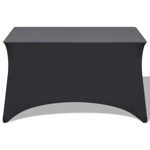 vidaXL stræk bordbetræk 2 stk. 120 x 60,5 x 74 cm antracitgrå