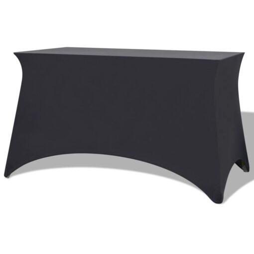 vidaXL stræk bordbetræk 2 stk. 243 x 76 x 74 cm antracitgrå