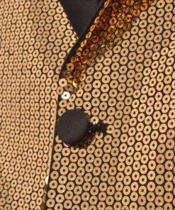 vidaXL smokingblazer med guldpailletter til mænd størrelse 46
