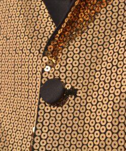 vidaXL smokingblazer med guldpailletter til mænd størrelse 48
