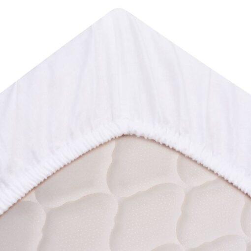 vidaXL tilpassede lagner 2 stk. i bomuld 180 x 200 cm hvid