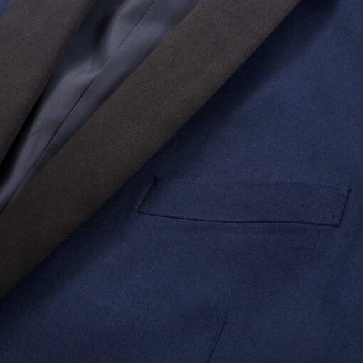 vidaXL Smokingsæt/Black Tie middagssæt i to dele størrelse 46 marineblå