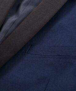 vidaXL Smokingsæt/Black Tie middagssæt i to dele størrelse 52 marineblå