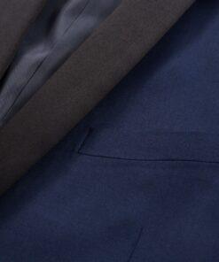 vidaXL Smokingsæt/Black Tie middagssæt i to dele størrelse 54 marineblå