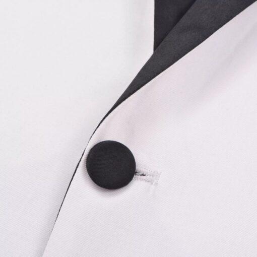 vidaXL Smokingsæt/Black Tie middagssæt i to dele størrelse 50 hvid