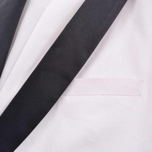 vidaXL Smokingsæt/Black Tie middagssæt i to dele størrelse 52 hvid