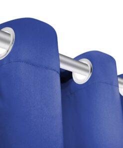 vidaXL mørklægningsgardiner 2 stk. med metalsnøreringe 135×175 cm blå