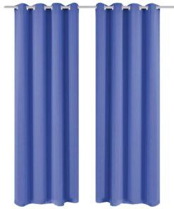vidaXL mørklægningsgardiner 2 stk. med metalsnøreringe 135×245 cm blå