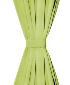vidaXL gardiner i mikro-satin 2 stk. med løkker 140 x 225 cm grøn
