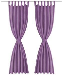 vidaXL gardiner i mikro-satin 2 stk. med løkker 140 x 245 cm lilla
