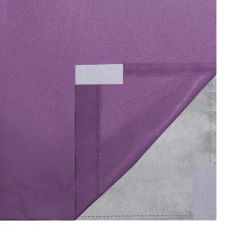 vidaXL mørklægningsgardiner 2 stk. dobbelt stoflag 140 x 175 cm lilla