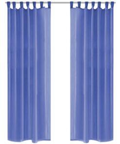 vidaXL voile-gardiner 2 stk. 140×175 cm kongeblå