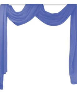 vidaXL voile-drape 140 x 600 cm kongeblå