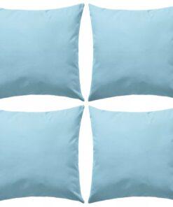 vidaXL udendørspuder 4 stk. 45 x 45 cm lyseblå