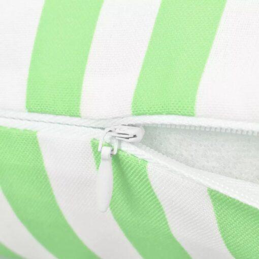vidaXL udendørspuder 2 stk. stribeprint 45 x 45 cm æblegrøn