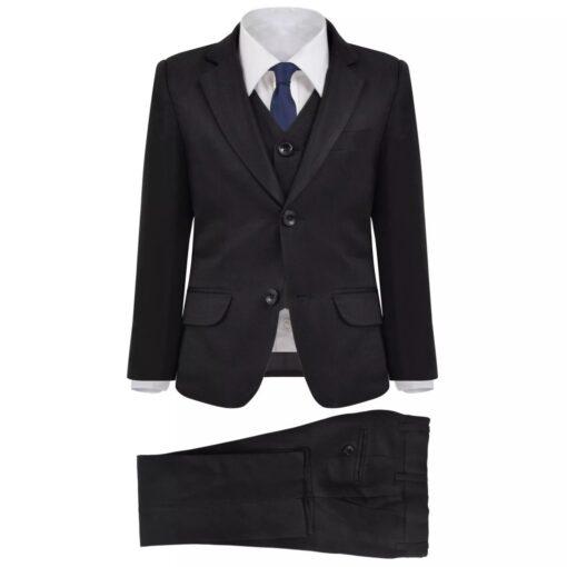 vidaXL jakkesæt til børn tre dele størrelse 92/98 sort