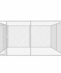 vidaXL udendørs hundeløbegård 4 x 4 x 2 m
