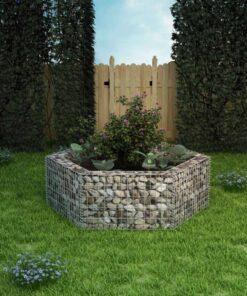 vidaXL sekskantet gabion-højbed 160x140x50 cm