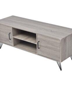 vidaXL TV-bord 120 x 40 x 45 cm grå