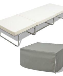 vidaXL foldeseng med madras stål 70 x 200 cm