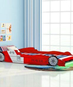 vidaXL LED racerbilseng til børn 90 x 200 cm rød