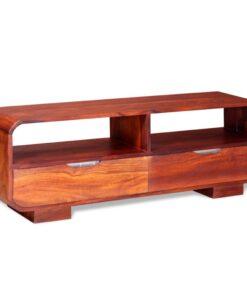 vidaXL TV-bord i massivt sheeshamtræ 116 x 30 x 40 cm