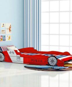 vidaXL racerbilseng til børn 90×200 cm rød