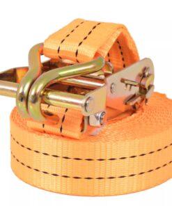 vidaXL surringsbånd 10 stk. 1 ton 6 m x 38 mm orange