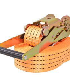 vidaXL surringsbånd med skralde 4 stk. 2 ton 8 m x 50 mm orange