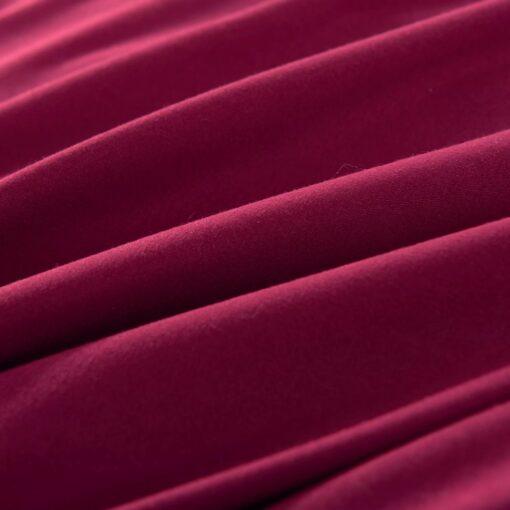 vidaXL sengesæt 140×220/60×70 cm bordeaux