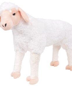 vidaXL stående legetøjsfår plys hvid XXL
