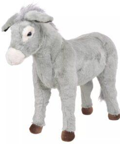 vidaXL stående legetøjsæsel grå XXL