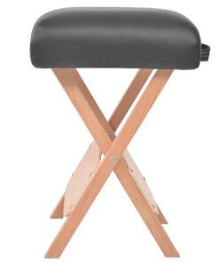 vidaXL foldbar massagestol med 12 cm tykt sæde og 2 puder sort