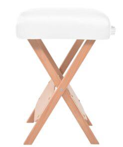 vidaXL foldbar massagestol med 12 cm tykt sæde hvid