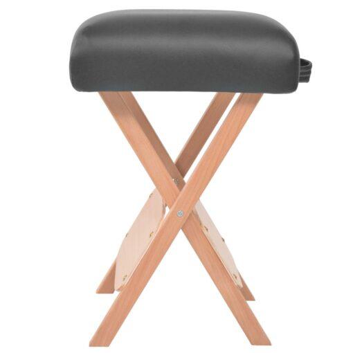 vidaXL foldbar massagestol med 12 cm tykt sæde sort
