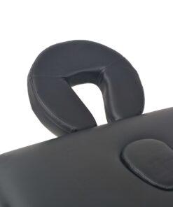 vidaXL foldbart 3-zoners massagebord 10 cm tykt sort