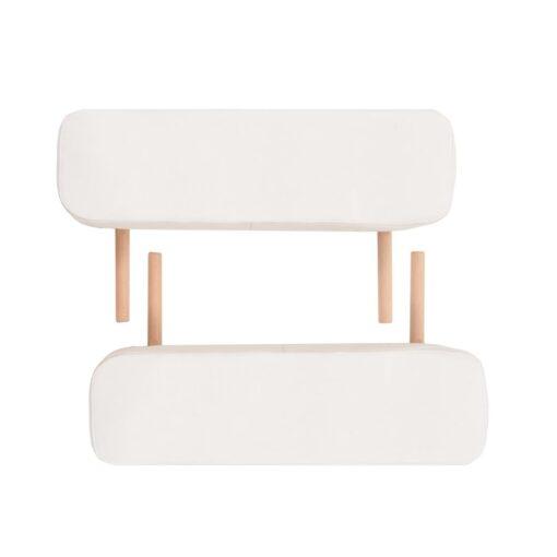 vidaXL foldbart 2-zoners massagebord- og skammelsæt 10 cm tykt hvid