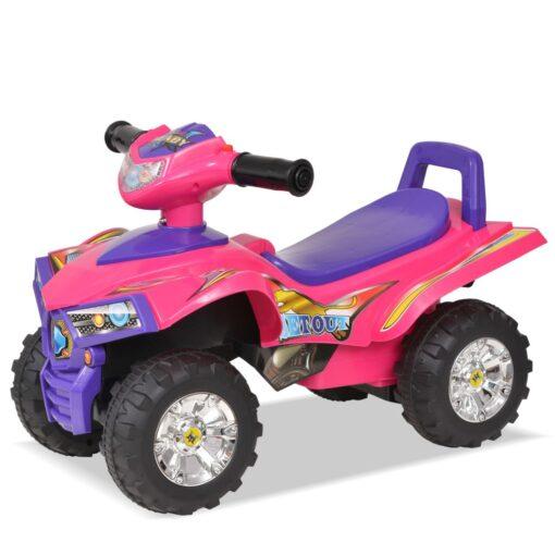 vidaXL el-ATV til børn med lyd og lys lyserød og lilla