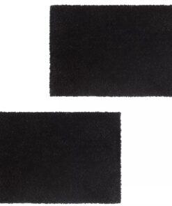 vidaXL dørmåtter 2 stk. coir 17 mm 50 x 80 cm sort